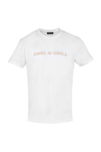 COOL & CHILL BASIC OPTİK BEYAZ T-SHIRT