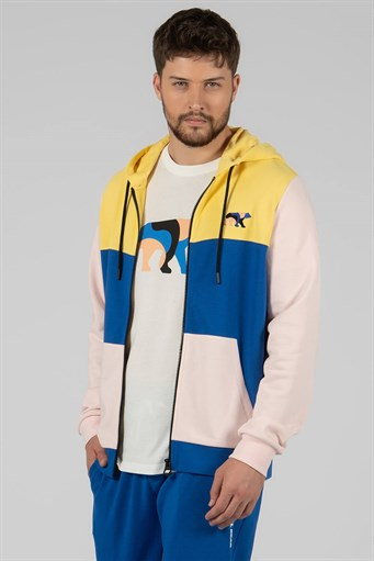 MULTICOLOUR ZIPPED HOODIE